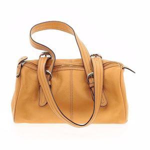 Tignanello Mustard Yellow Leather Shoulder Bag